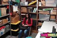 Teen Thief Lilly Hall Gets Stripped And Fucked Hard On Desk