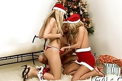 Stare at 2 vehement beauties licking well in position #69
