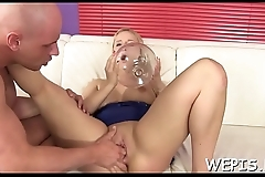 Wild harlots are pissing on shaved cunts of every other