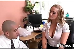 Hot sweetheart with big tits gets trimmed pussy licked and fucked