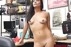 Latina Alexis Deen fucks Shawns cock in the office