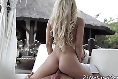 Dickriding cutie blows cock on her knees
