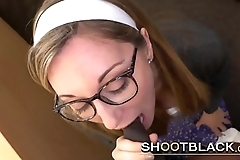 Mouthfucking this nerdy slut is just the beggining