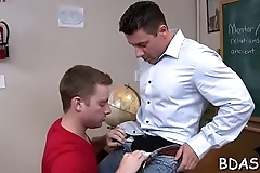Gay lads are in for a quick anal shag whilst in the bedroom