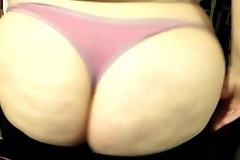 My ex-gf showing her big round pawg ass to my friend while he films