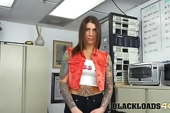 Blue eyed brunette desperate for a big cock in her pussy