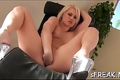 Sensational toy isertion is done for fun as that babe gets wicked