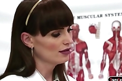 Shemale Dr Natalie Mars licks and fucking patient Rizzo Ford