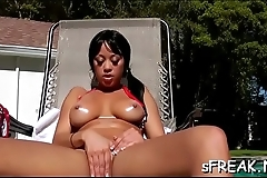 Sexy chick gets kinky on her super sexy  concupiscent self