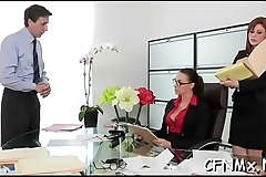 Hot dressed mature gives a steamy oral-job and fucks hard