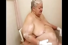 Michelle taking a hot sexy soapy shower