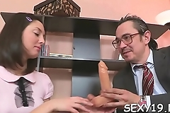 In order to pass her exam playgirl is delighting her teacher'_s cock
