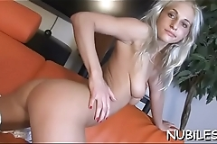 Hottie rides up corpulent shlong and performs nice rodeo on it
