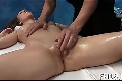 Hotty drilled after sensual massage given by jake