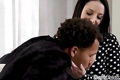 Angela White pounded hard by a big cocked black guy